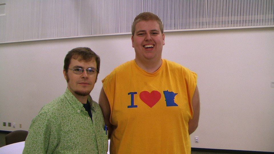 Dr. Cathcart with Jo-Petter Iverson (PLU '09, history), Norweigian, and Minnesota Club member.