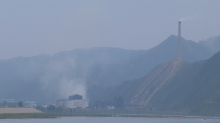 North Korean factory in Musan, about an hour from Tonghua; photo by Adam Cathcart