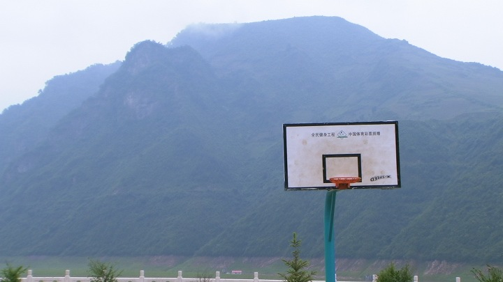 Hoop Dreams by the North Korean border, Jilin province (photo by Adam Cathcart)