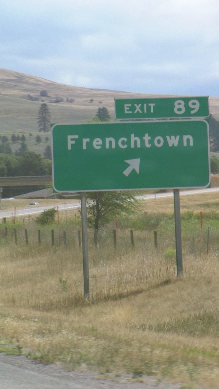 Frenchtown Exit, Interstate 90, Montana (Photo by Adam Cathcart)