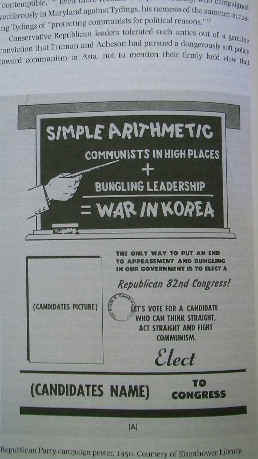 Republican Leaflet from Eisenhower Library, reprinted in Casey, Steven.  Selling the Korean War: Propaganda, Politics, and Public Opinion in the United States, 1950-1953.  New York: Oxford University Press, 2008.