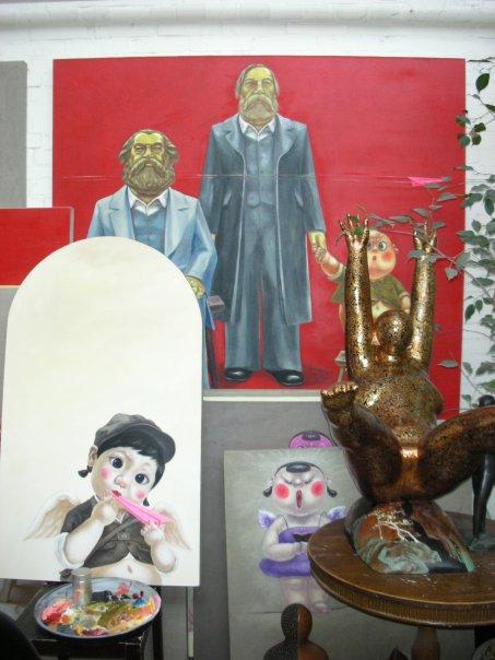 Artist Studio at 798, Beijing -- photo by Adam Cathcart, Feb. 2008