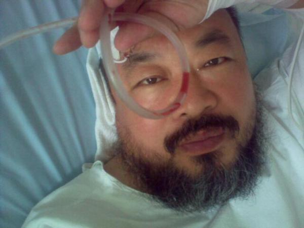 Ai Weiwei in Munich University Hospital, 15 Sept. 2009