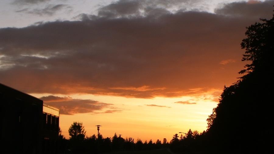 Twilight overtakes the University --- photo by Adam Cathcart
