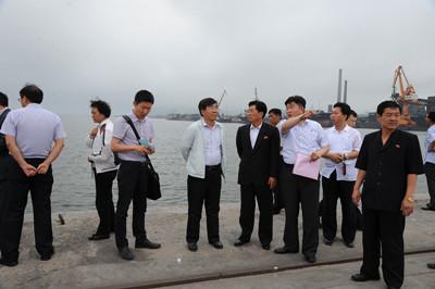 PRC Ambassador Liu Hongcai in Rason, July 2-4, 2014. Photo via Chinese Embassy, Pyongyang.