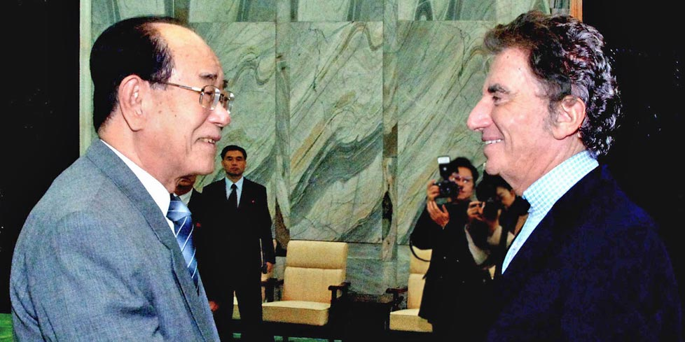 Jack Lang and Kim Yong Nam