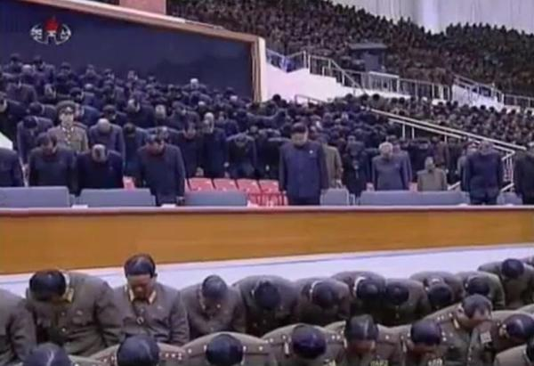 Kim Jong-un at a concert in February 2012 for his father.