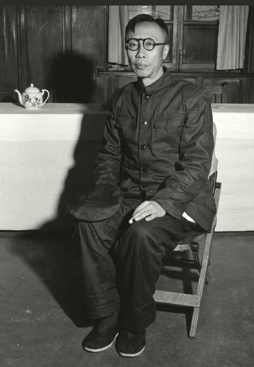Pu Yi in captivity in Fushun, 1956; photo by Dave Lancashire