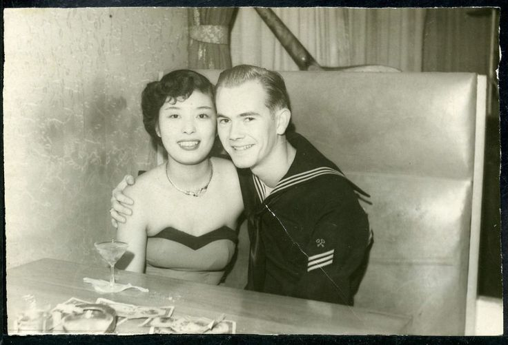 US Soldier w Chinese Prostitute 1940s via Pinterest